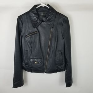 Bagatelle Woman Leather Motorcycle Jacket Sz M